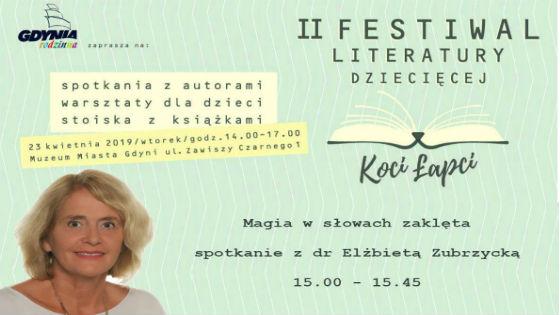 Festiwal literatury dziecięcej Koci Łapci 2019